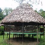 One two hammock huts.