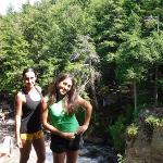 Me and Jenea at cliff jumping spot in Lake Placid