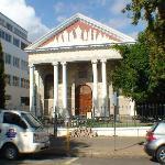 Church on main street of Stellenbosch