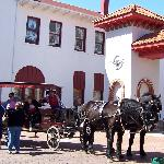 horse and carriage rides around the Stockyards