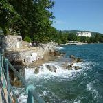 Lovran rocky walkway