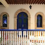 The inner courtyard, door to one of the rooms