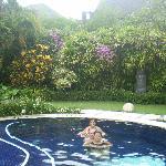 Our private pool in Villa 19