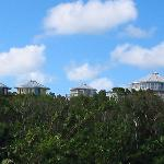 Looking at the Villa's from the beach