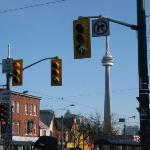 CN Tower from Kensington Market Toronto:the right place to do something wrong while you are in C
