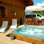 Luxury Hot tub at Chalet Annabelle Chamonix