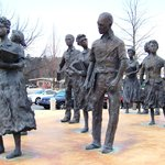 the Little Rock Nine monument