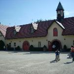 The stable where the Clydesdales are housed