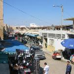 The market now extends outside the walls of the ancient town.
