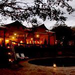 Serengeti Migration Camp-Main Pavilion at Dusk