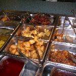 Ming Kitchen Lunch Buffet: Egg rolls, dumplings, chicken sticks, sweet-n-sour chicken