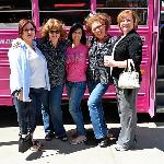 Jersey girls on the big pink bus!