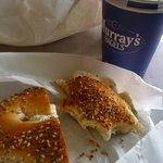 Everything bagel and coffee