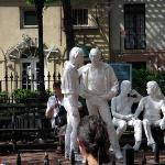 George Segal's statues in Christopher Park, Greenwich Village.