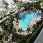 Our pool down below