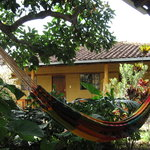 hammock in front of porch