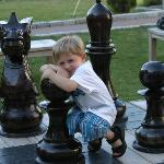 How about a game of chess? Our outdoor, life-size chess set takes the game to another level.