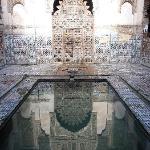 Medersa door and reflection