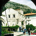Through the Old Town Gate of Ploce.