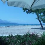 vue du resto sur la plage