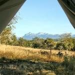 View of the Andes from your tent