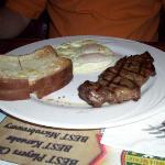 EI - steak and eggs breakfast