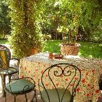 The perfect patio for Brunello drinking