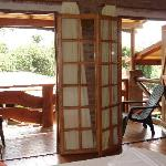Double french doors that open out to your balcony