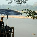 The Mekong River is just a few metres away from the Pumalin Guest House.