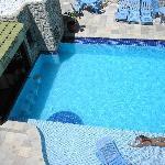 Vista desde el 3er piso a la piscina