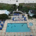 pool view from my room on 14th floor