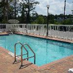 Swimming pool, showing I-95 on right
