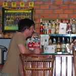The well stocked bar at the Rosy Guesthouse