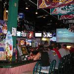 The Grand Slam Grotto Pizza BAR area & TV's
