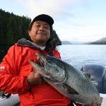 Quadra Island salmon fishing