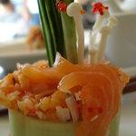 Cucumber base sushis