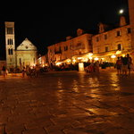 center of Hvar at night