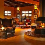 The lounge in the Zebra Lodge & Spa, main building