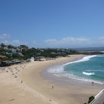 View of Plett Central beach from balcony