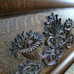 carved bedstead