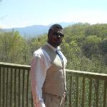 my hubby right before the ceremony