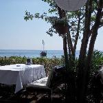 Blick aus dem Strandrestaurant
