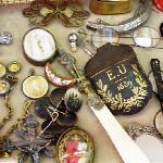 Mercatino dell'antiquariato di campo San Maurizio Venezia.oggetti da collezione