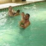 enjoying the nice relaxing pool