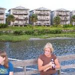 Condo units as seen from the dock