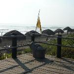 Vista de la playa desde la terraza del restaurante