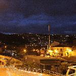 Vista del centro en la noche