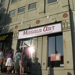 Masala Art is on the ground floor of a Masonic Lodge