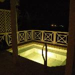 Our plunge pool at night