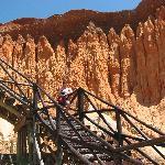 l'escalier pour accéder à la magnifique plage de sable